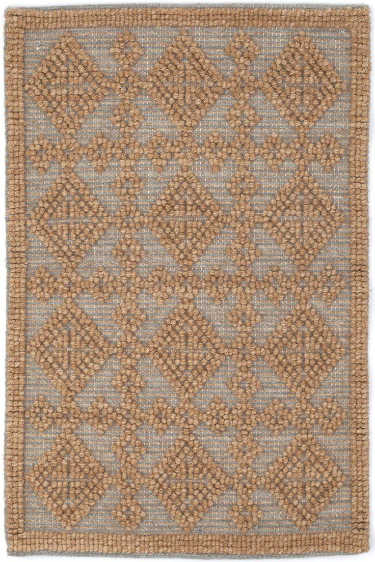 Alpine Diamond Woven Wool Rug in Slate design by Dash & Albert
