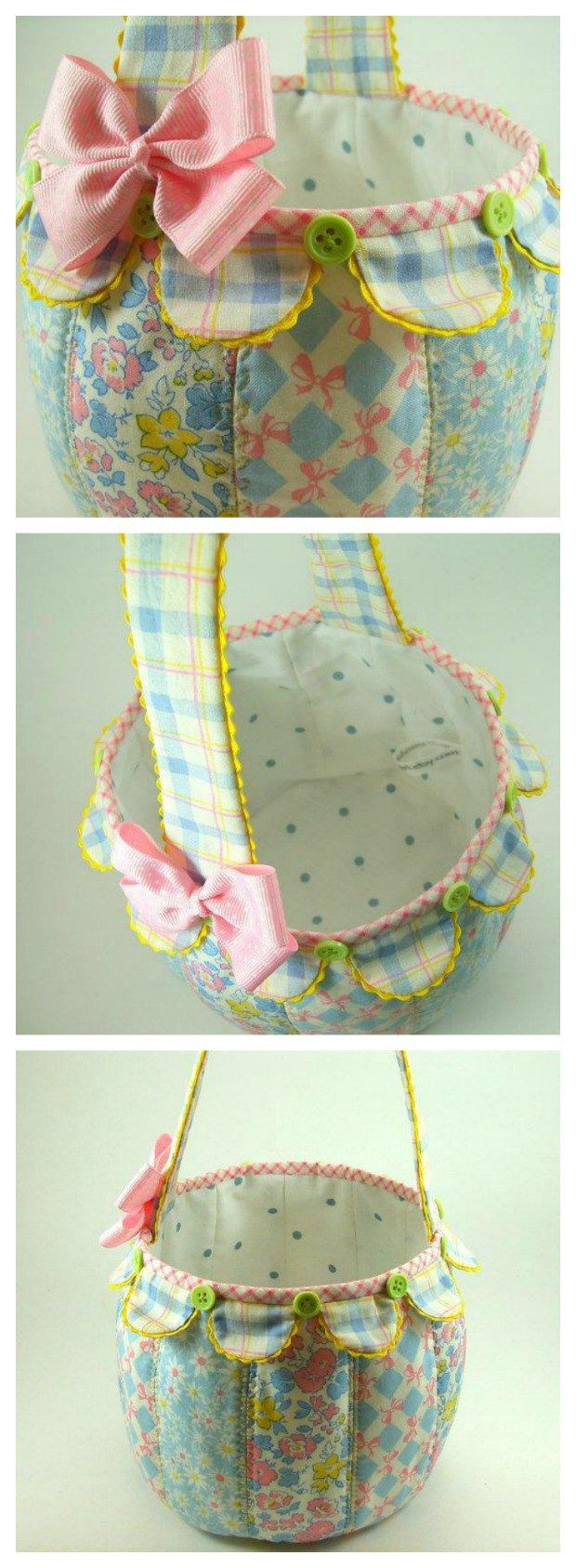 Instructions for how to make this darling Easter Basket. I think this would also make a great new mom basket too, filled with baby accessories. Can't wait to make one.