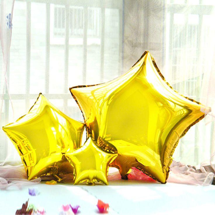 24 дюйм(ов) Романтический Свадебный Декор Звезды Фольги Гелиевые Шары День Рождения шаре Свадебные Баллоны Годовщины Свадьбы Украшения Партия Поставки
