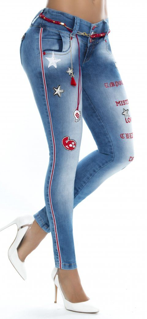 Jeans levanta cola WOW 86324 Azul