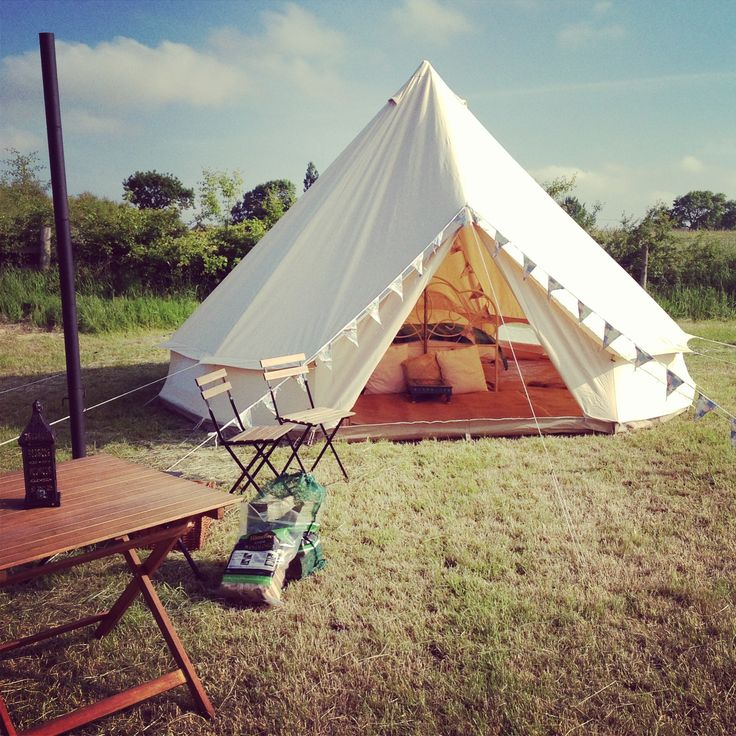 Canvas bell tent, glamping in Yorkshire www.glampit.com