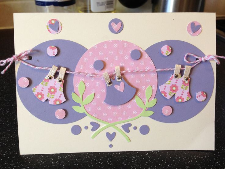 Baby shower card. Made with the owl stampin up punch and circle punch!  Stampin' Up!
