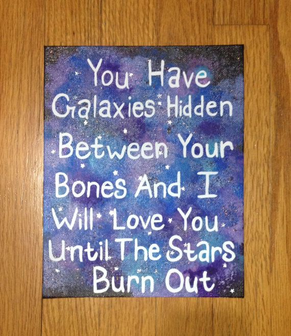 Galaxies Quote Acrylic Painting On Canvas by QuoteGallery on Etsy