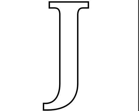 Imprimir Letra J Para Recortar Colorearjpg 475380 Píxeis
