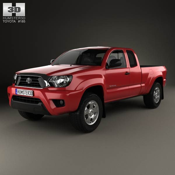 Toyota Tacoma Access Cab 2012 3d model from humster3d.com. Price: $75