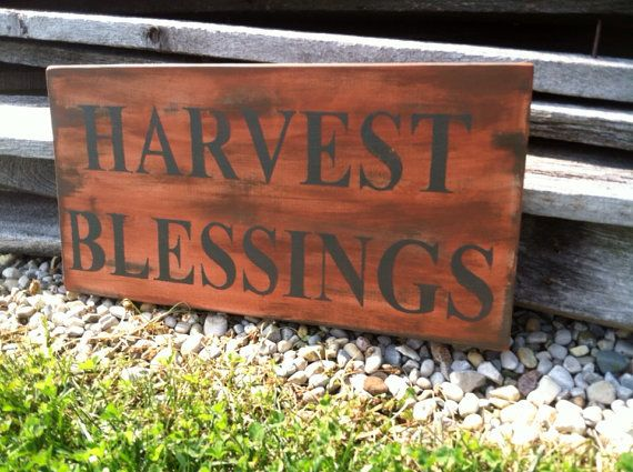 Fall Decor Harvest Blessings Sign Fall Decor by CharmingWillows, $28.00