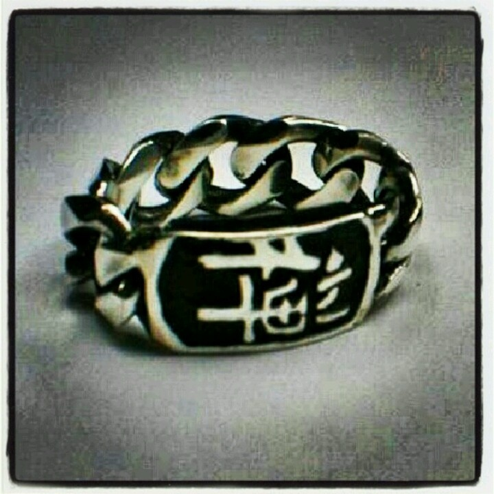 Silver Chain Ring customized by Paolo Brunicardi goldsmith for FKS Jewels