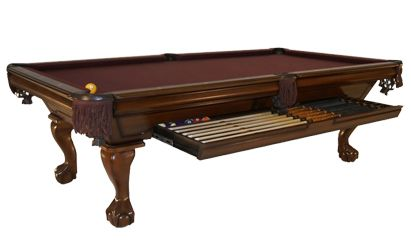 The Oxford  The exquisite appearance of this Golden West pool table lends itself to a variety of unique interiors.