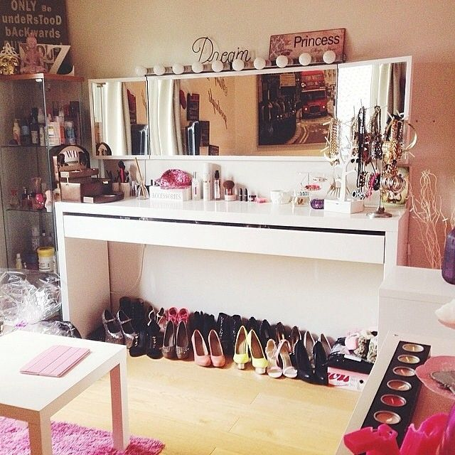 Awesome Vanity Made With Malm Dressing Table From Ikea