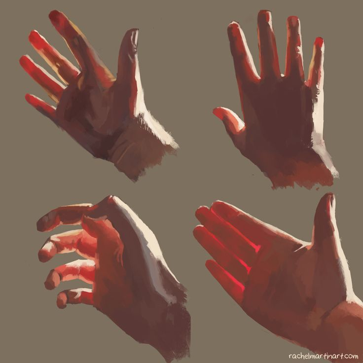 Subsurface Scattering painting with hands. http://rachelmartinart.com/