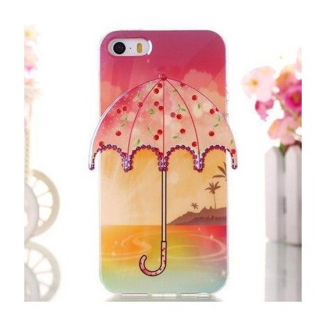 Coques / Protections iPhone 5 / 5S - iPhone 5 et 5S - Coque de protection en TPU souple parapluie motif cerises - nemtytab.com 6,20 EUR