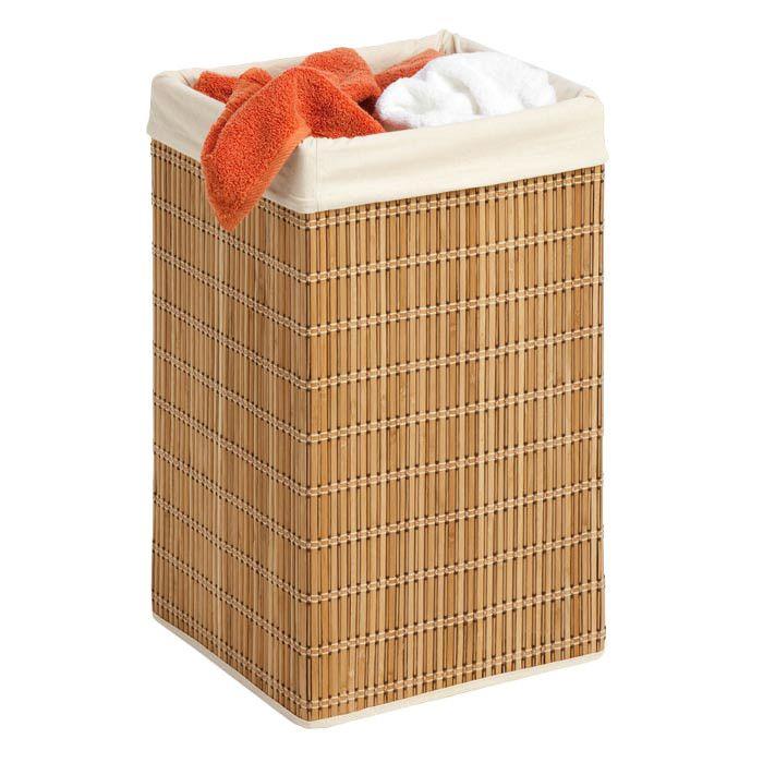 square bamboo wicker hamper