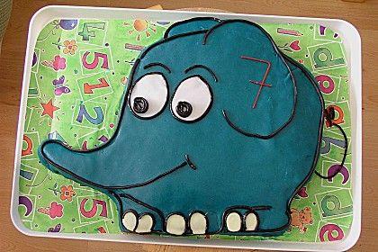 Lettas kleine blaue Elefant - Motivtorte (Rezept mit Bild) | Chefkoch.de