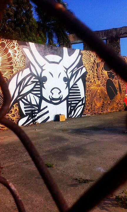 Panama City street art Deer