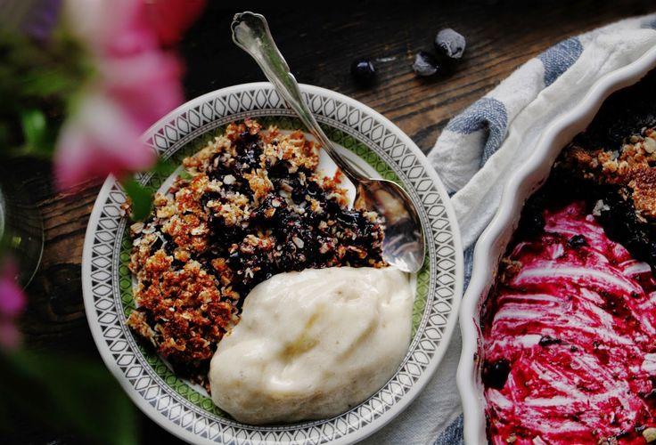 Glutenfri Blåbärspaj / Gluten-free Blueberry / Bilberry Pie - Evelinas Ekologiska http://www.evelinasekologiska.se/