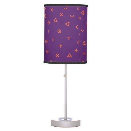 Happy Particles Purple Desk Lamp - pattern sample design template diy cyo customize