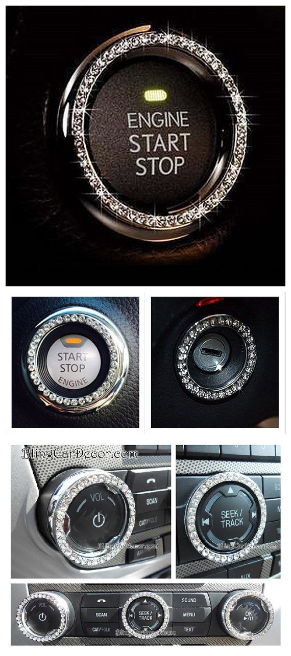 Shop Bling Car Emblem Stickers. Dazzling rhinestone bling rings for Button & Key Ignitions, Knobs, & More. Crystal car decor accessories for cars, trucks, suv, and more. Available in Colors Silver, Pink & Blue.  ONE SIZE FIT ALL > *No Need To Measure Your Ignition: They are a perfect fit for any standard size auto key and push button ignitions. Only $12.00. > SAVE 10% COUPON CODE: PINME.  https://www.etsy.com/listing/236430300/bling-car-emblem-sticker-decal-bling-car?ref=shop_home_feat_2