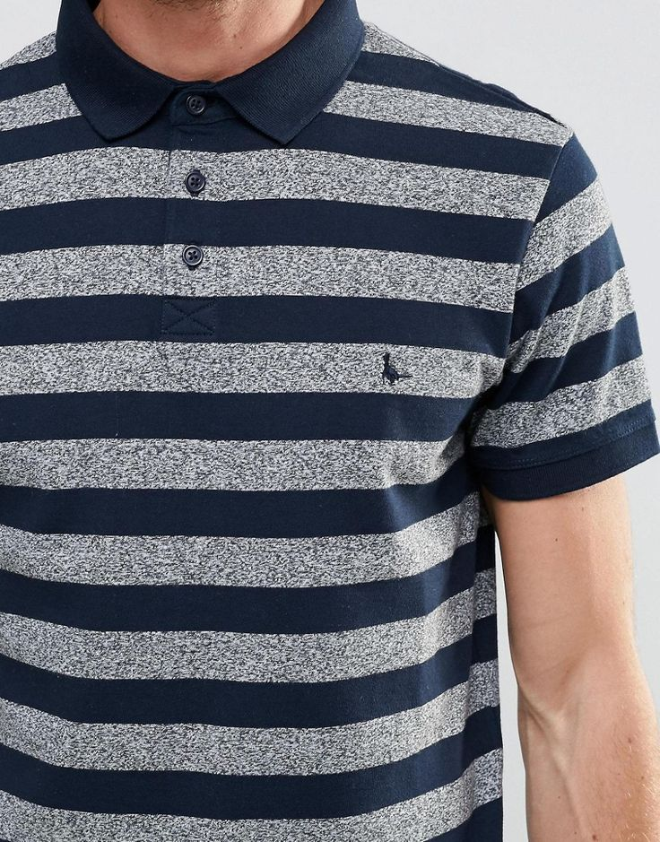 Image 3 ofJack Wills Polo Shirt With Stripe In Navy