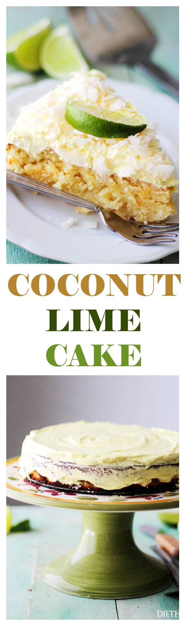 Coconut Lime Ricotta Cake - Bright, light and incredibly delicious Coconut Lime Cake made with ricotta cheese and almonds. Just like that classic Coconut Lime Cake, but better! It's also lower in calories AND gluten free!