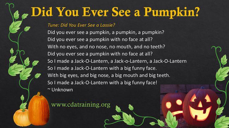 Pumpkin Songs Pumpkin song, Pumpkin, Songs