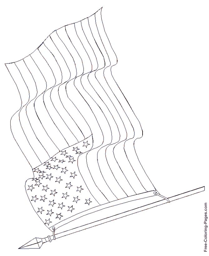 flag coloring sheet