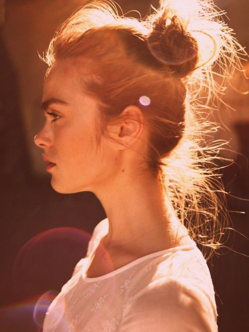 whispy top-knot