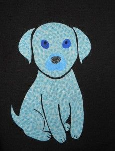 Click and Download Your Free Quilting Pattern - Puppy Quilting Applique Pattern  - http://quilting.myfavoritecraft.org/free-quilting-patterns/