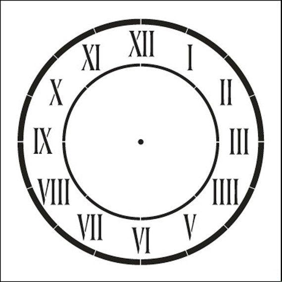 D Anjou Clock Stencil Select Size Sku Stcl510
