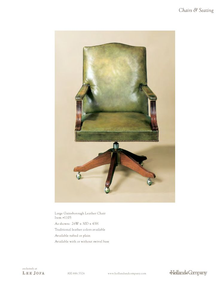 Holland & Company - Chairs and Seating - Large Gainsborough Leather Chair