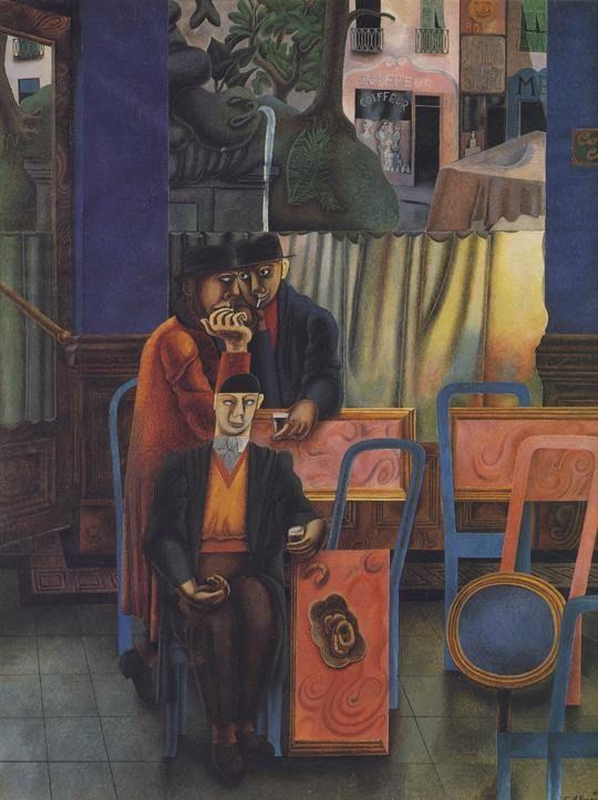 Cafe Bar 1930 by Edward Burra (British 1905 - 1976)