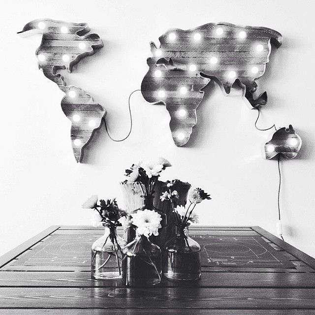 .@Anna Nooshin | The world on a wall. #yesplease #love #interior | Webstagram