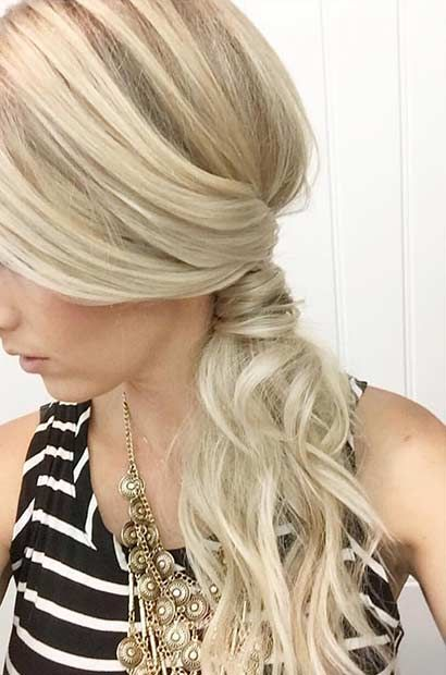 Awesome 1000 Ideas About Side Ponytail Prom On Pinterest Loose Curly Short Hairstyles Gunalazisus