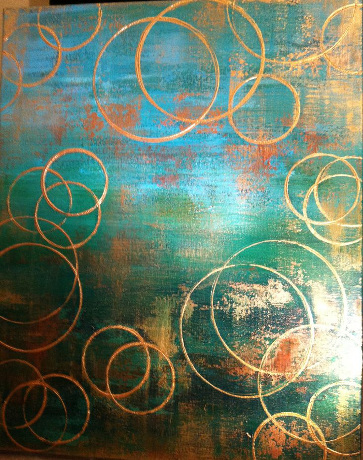 Large Emeral Green And Gold Abstract Painting By OriginalArtbyJen 37500