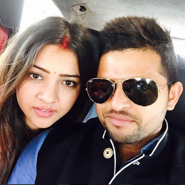 Cricketer Suresh Raina posts first selfie with wife Priyanka Chaudhary