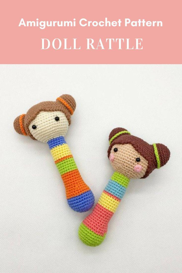 Doll Rattle Crochet Pattern, Teether Pattern, Instant Download ...