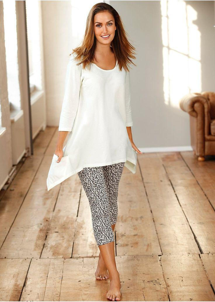 Piżama Koszulka z modnymi dłuższymi • 72.99 zł • bonprix