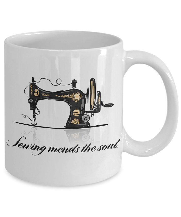 Sewing Novelty coffee cup #noveltymug #sewing #gift