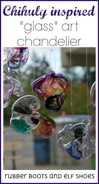 Chihuly art - kindergarten style More