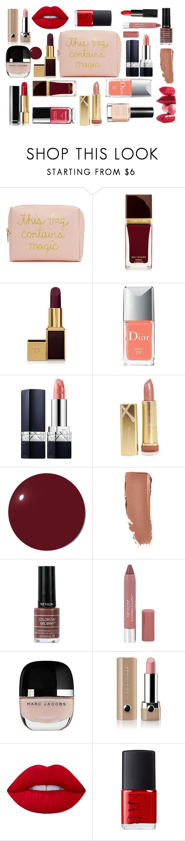"""Kit 4"" by miss-a-belle ❤ liked on Polyvore featuring beauty, Forever 21, Tom Ford, Christian Dior, Max Factor, Chanel, Rossetto, Revlon, Marc Jacobs and Lime Crime"