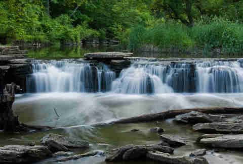 Waterfall Glen in Darien, Illinois -   The Forest Preserve District of DuPage County offers the perfect daytime hike through 2,492 acres of prairies, savannas, and shaded, oak-maple woodlands surrounding the Argonne National Laboratory.