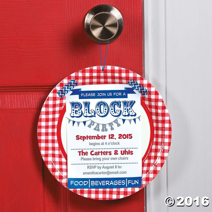 Neighborhood Block Party Invitation Idea Block party