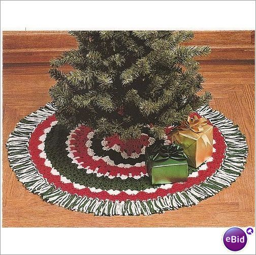 Easy crochet tree skirt pattern and craft holiday trees