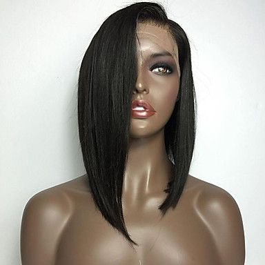 Natural+Black+Color+Bob+Straight+Lace+Front+Wig+With+Baby+Hair+Heat+Resistant+Synthetic+Hair+Wigs+For+Women+–+USD+$+35.05