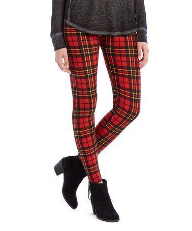 bd3ef649c3291b Loving this Red & Black Plaid Leggings - Women & Plus on #zulily!  #zulilyfinds