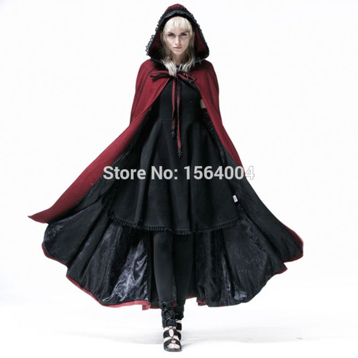 Aliexpress.com : Buy 2015 New Punk Rave Coat Jacket Womens Fashion Red Casual Long Vampire Witch Cape Y547 from Reliable caping tents suppliers on Punk Rave Store