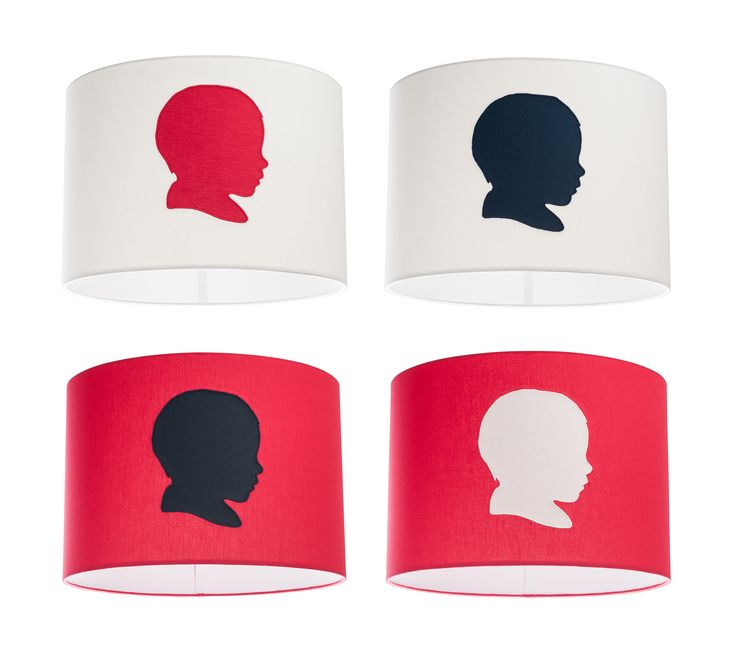 Our customized, handmade, organic cotton lampshades.