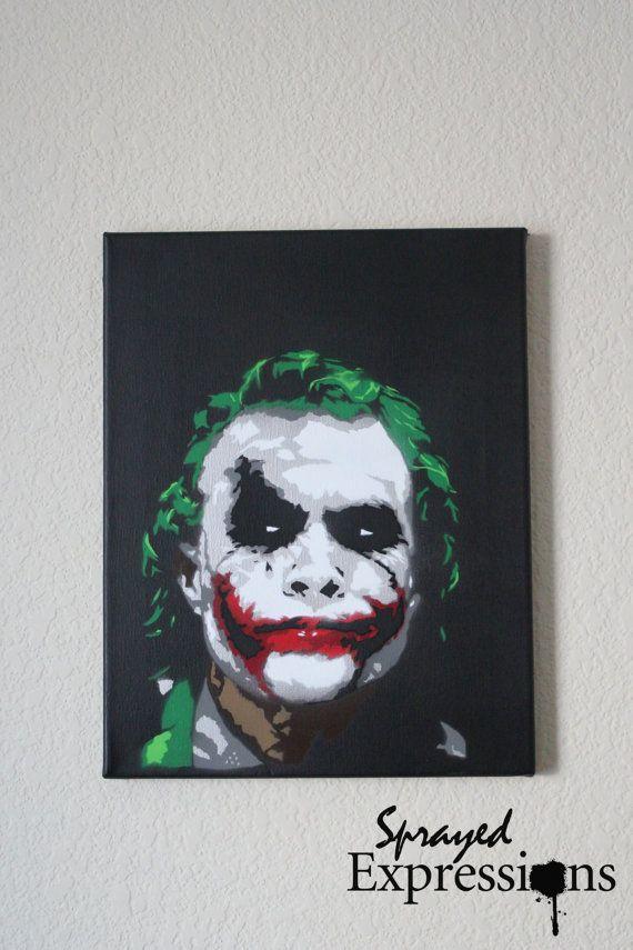 The Joker Spray Painting 11x14 Canvas by SprayedExpressions