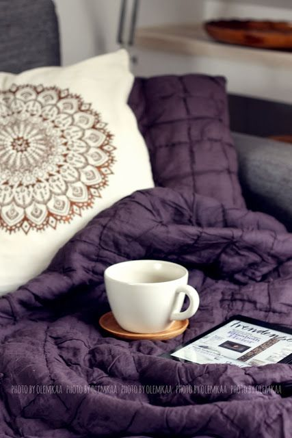 Love the deep purple and bronze or copper accents. Maybe colors for a bedroom?