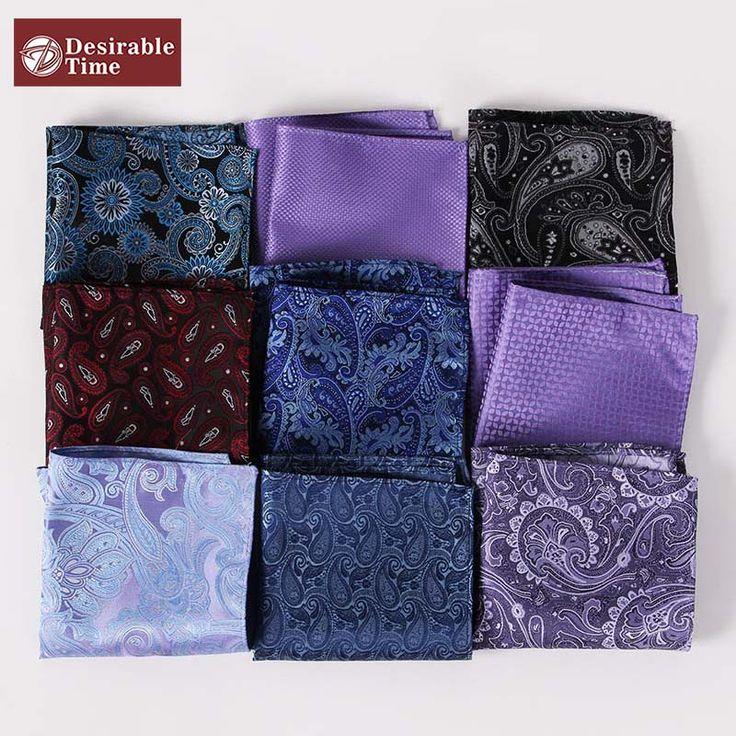 US$2.99 to get this Men's Paisley Pocket Squares or Handkerchiefs. #paisley #pocketsquare #handkerchief #towel #men #suit #floral #aliexpress