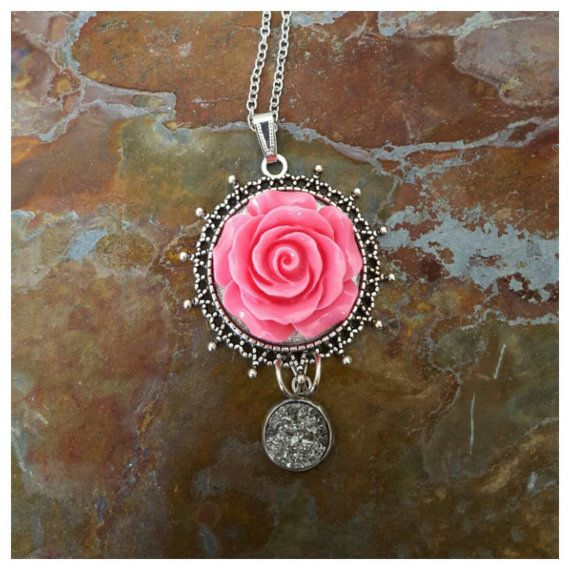 Hey, I found this really awesome Etsy listing at https://www.etsy.com/ca/listing/265271515/rose-necklace-pink-stainless-steel
